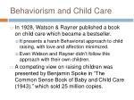 behaviorism and child care