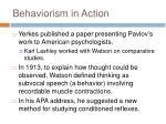 behaviorism in action