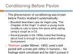 conditioning before pavlov