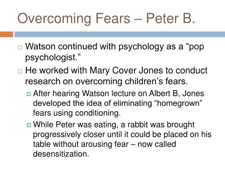 Overcoming Fears – Peter B.