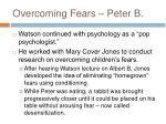 overcoming fears peter b