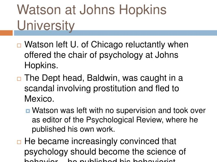 Watson at Johns Hopkins University