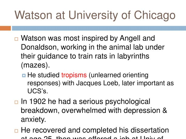 Watson at University of Chicago