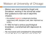 watson at university of chicago