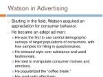 watson in advertising