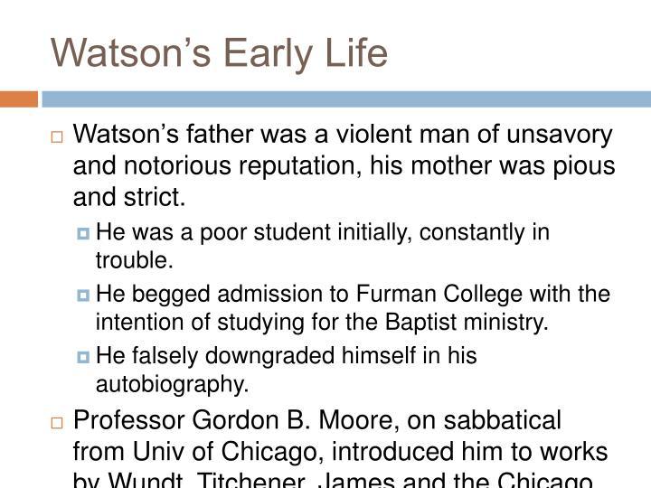 Watson's Early Life