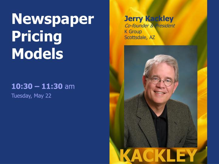 Newspaper Pricing Models