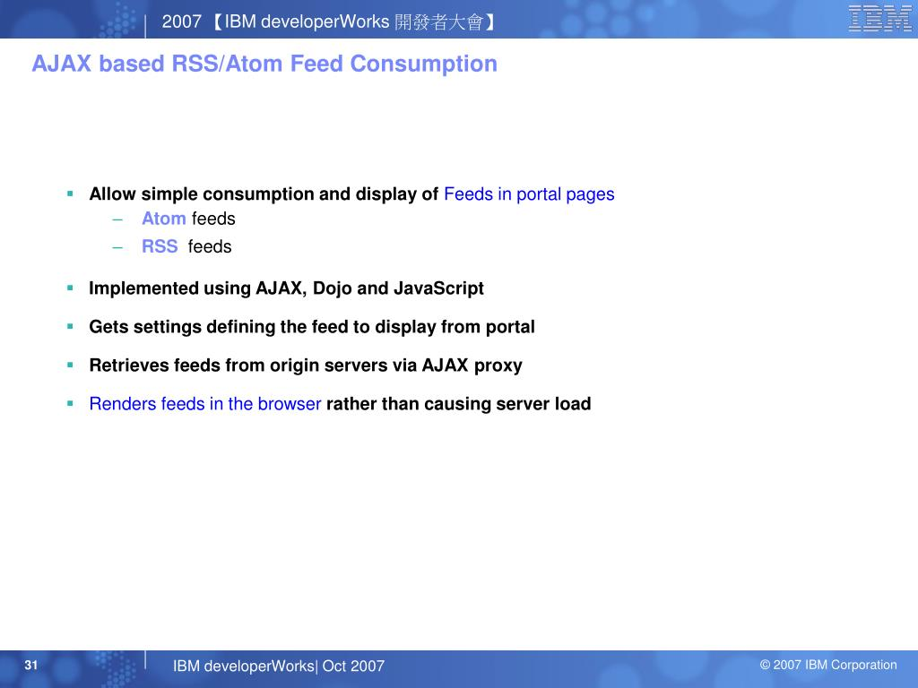 AJAX based RSS/Atom Feed Consumption