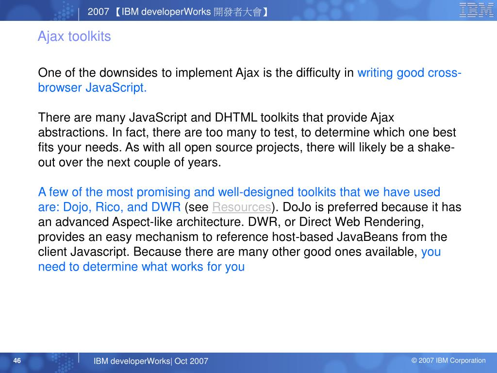 Ajax toolkits