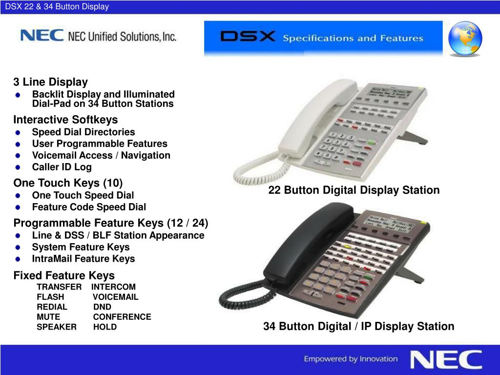 DSX 22 & 34 Button Display