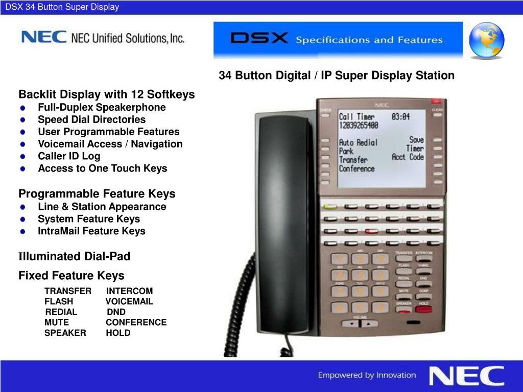 DSX 34 Button Super Display