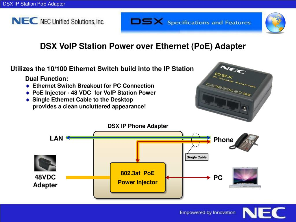 DSX IP Station PoE Adapter