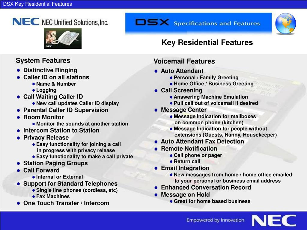 DSX Key Residential Features