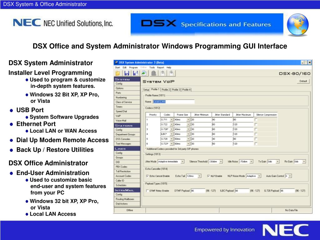 DSX System & Office Administrator