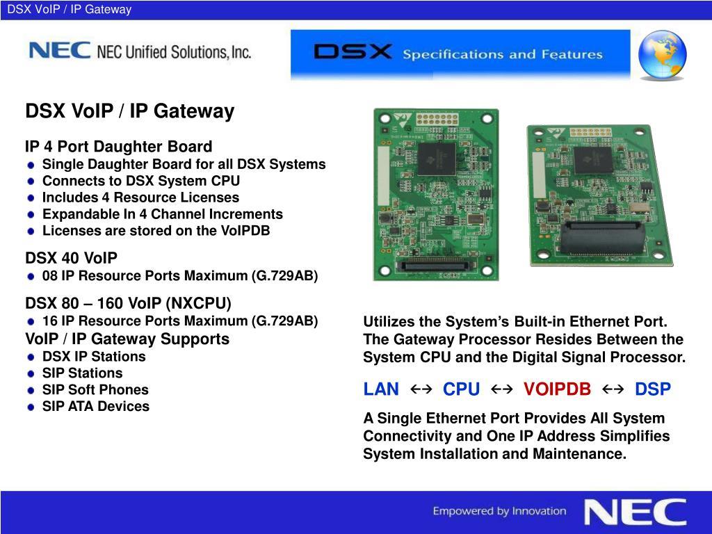 DSX VoIP / IP Gateway