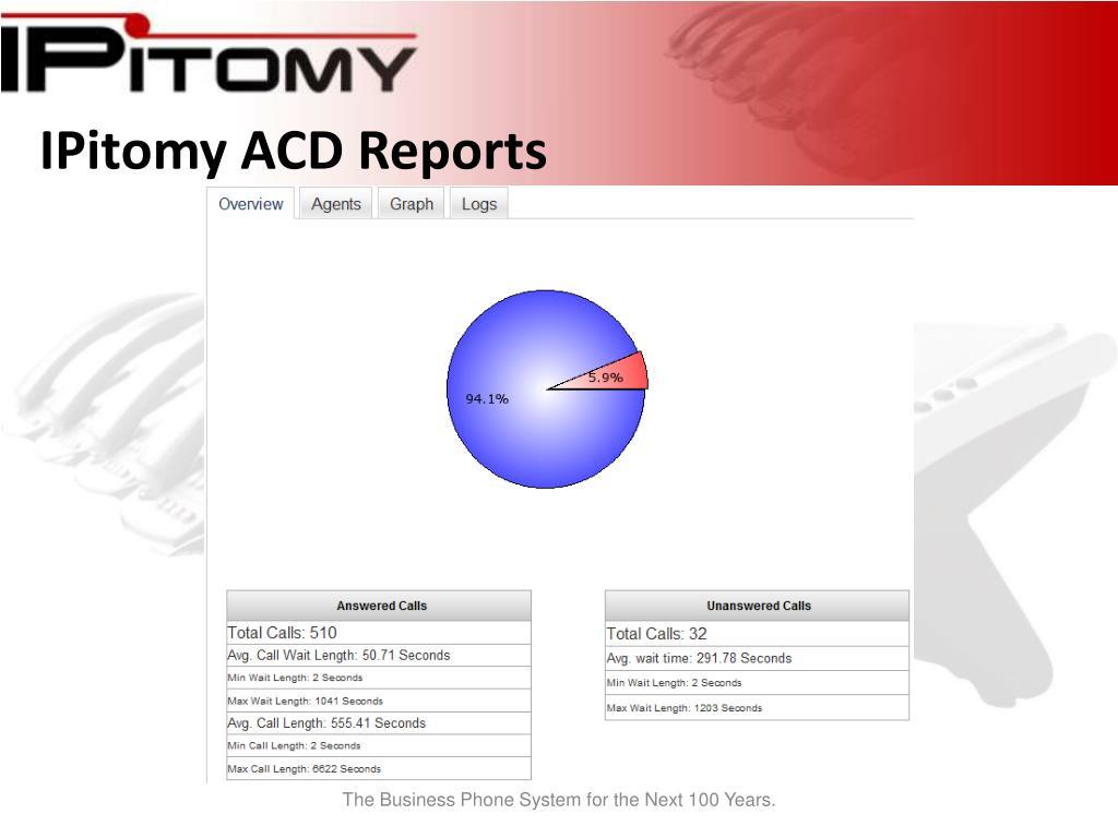 IPitomy ACD Reports