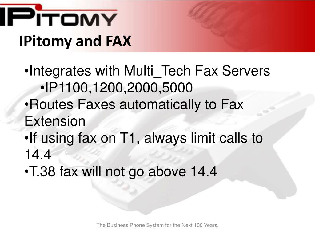 IPitomy and FAX