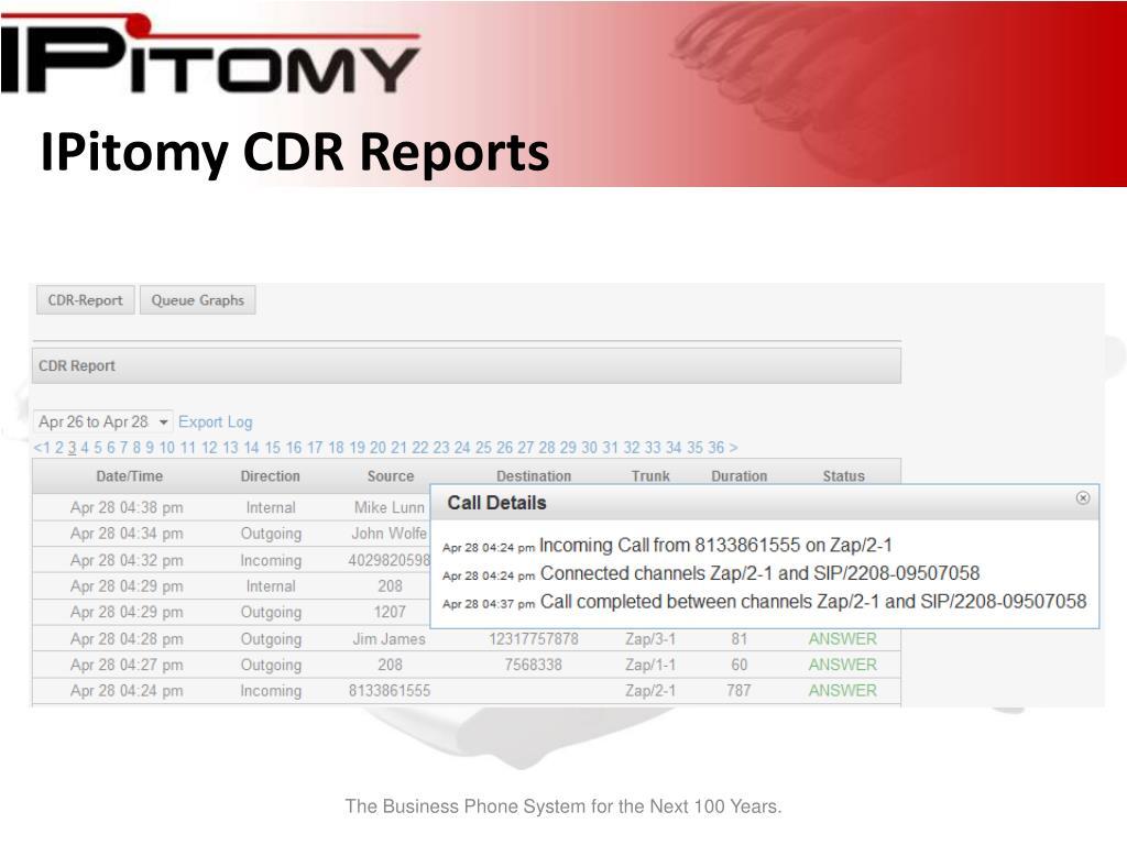 IPitomy CDR Reports