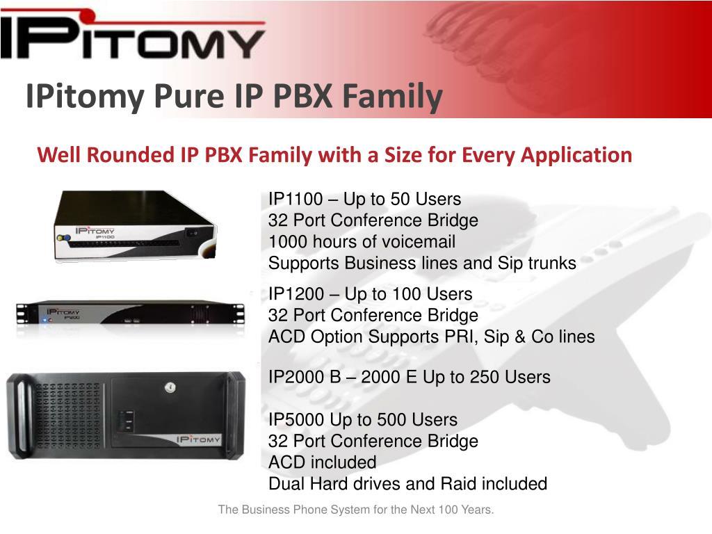 IPitomy Pure IP PBX Family