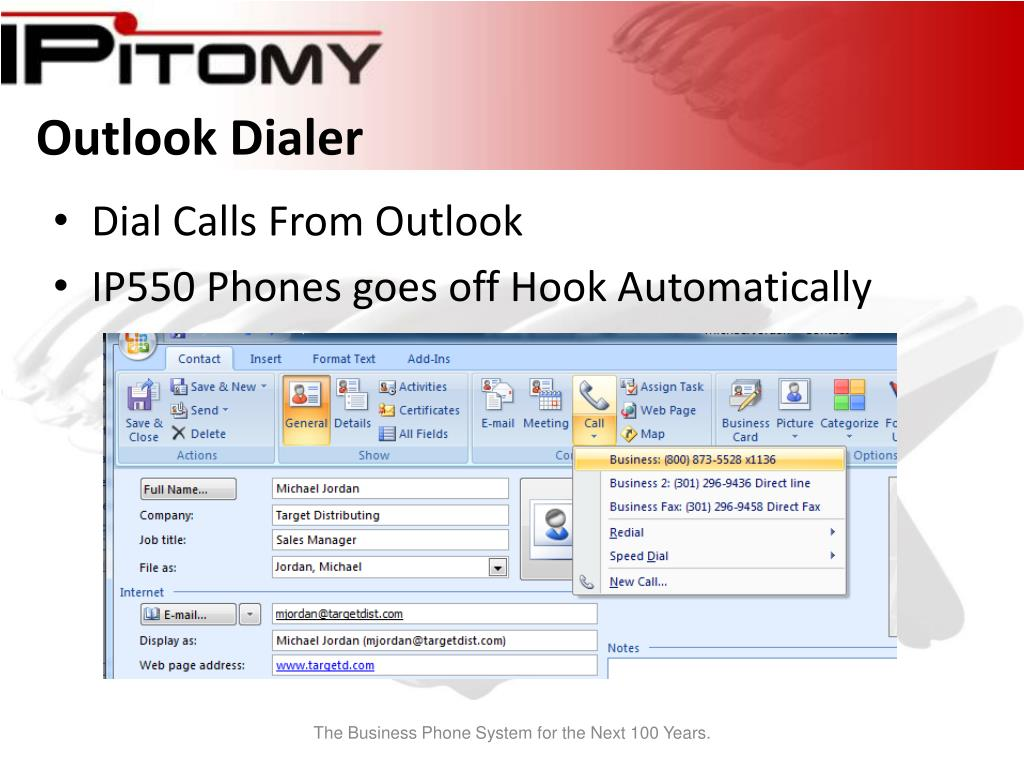 Outlook Dialer