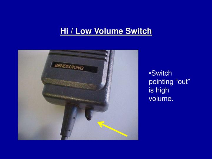 Hi / Low Volume Switch