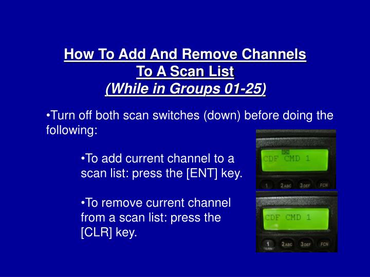 How To Add And Remove Channels