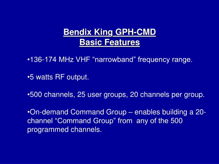 Bendix King GPH-CMD