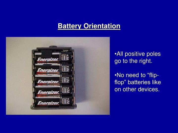 Battery Orientation