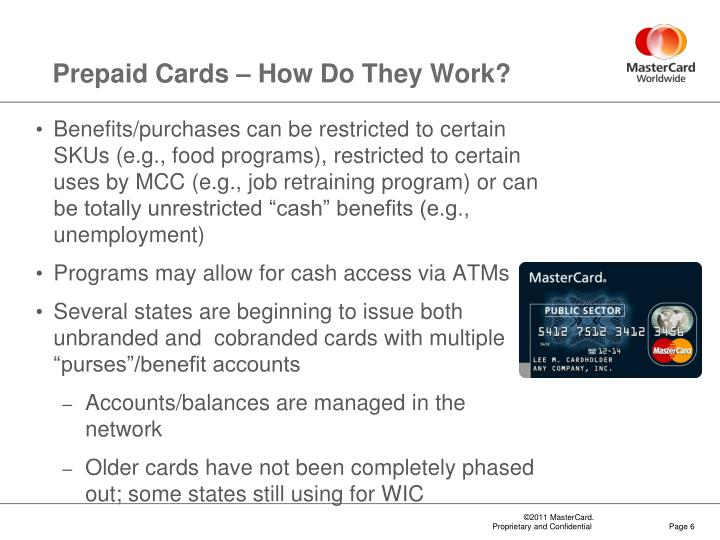 Prepaid Cards – How Do They Work?
