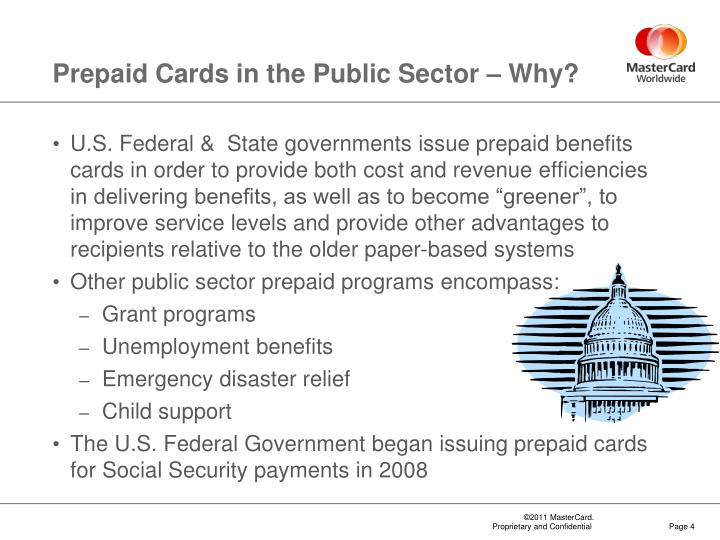 Prepaid Cards in the Public Sector – Why?