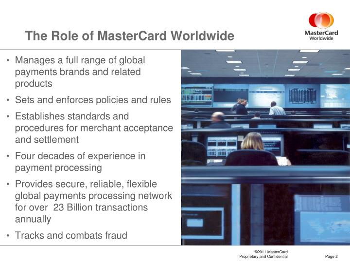 The role of mastercard worldwide