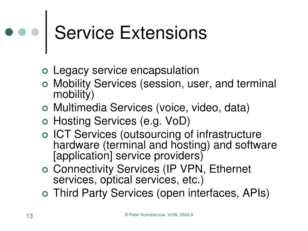 Service Extensions