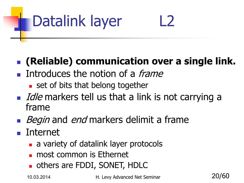 Datalink layer        L2