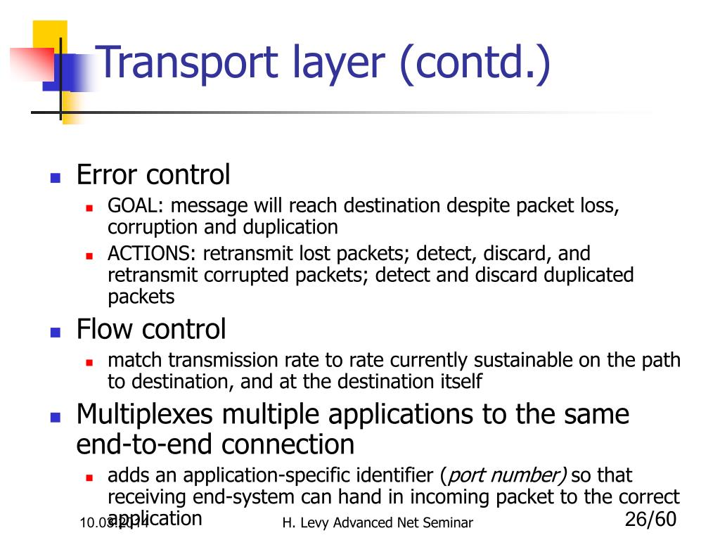 Transport layer (contd.)