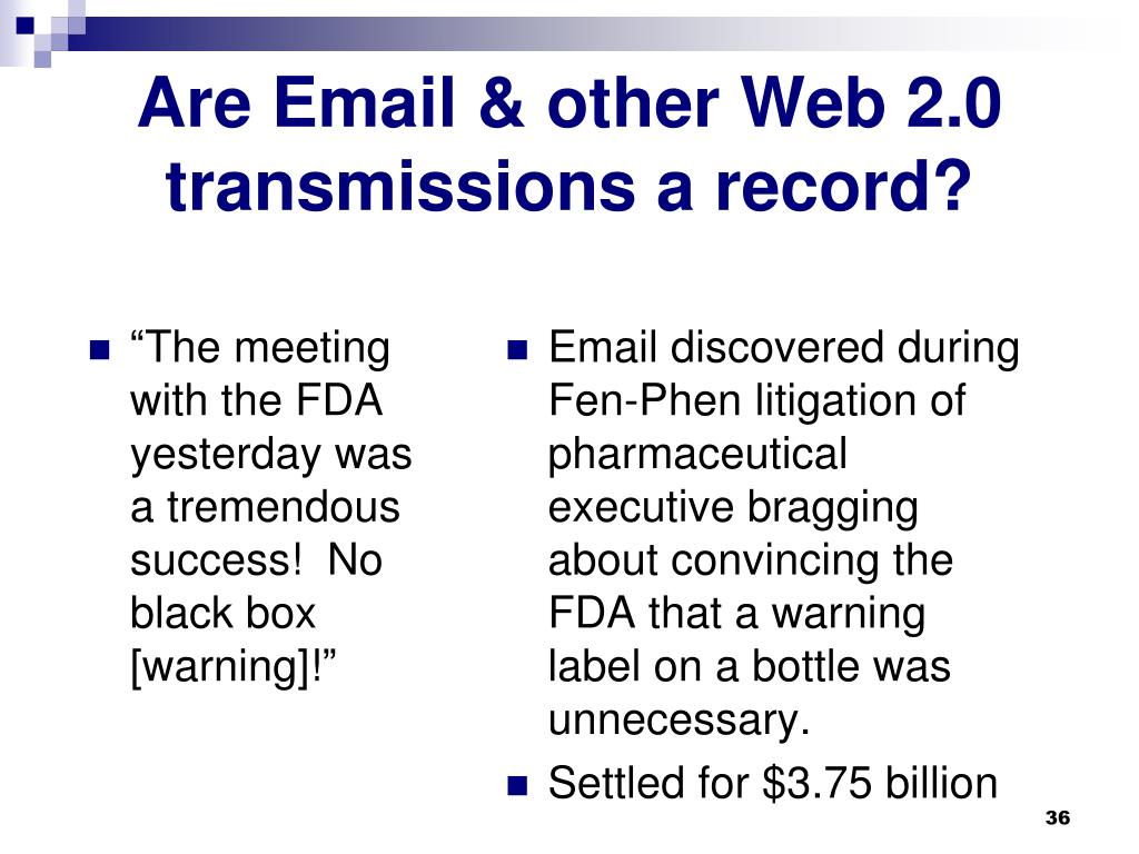 """The meeting with the FDA yesterday was a tremendous success!  No black box [warning]!"""