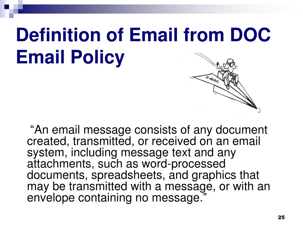 Definition of Email from DOC Email Policy