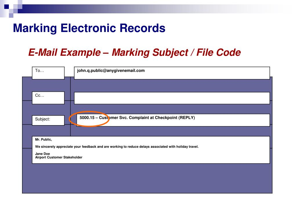 Marking Electronic Records