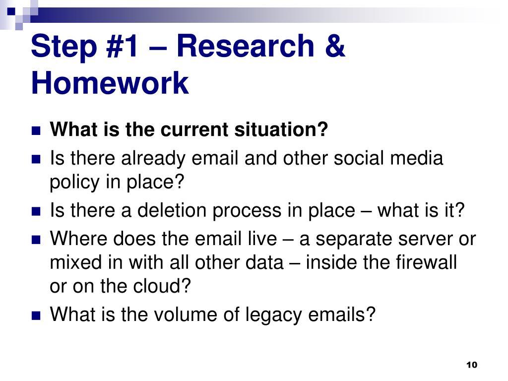 Step #1 – Research & Homework