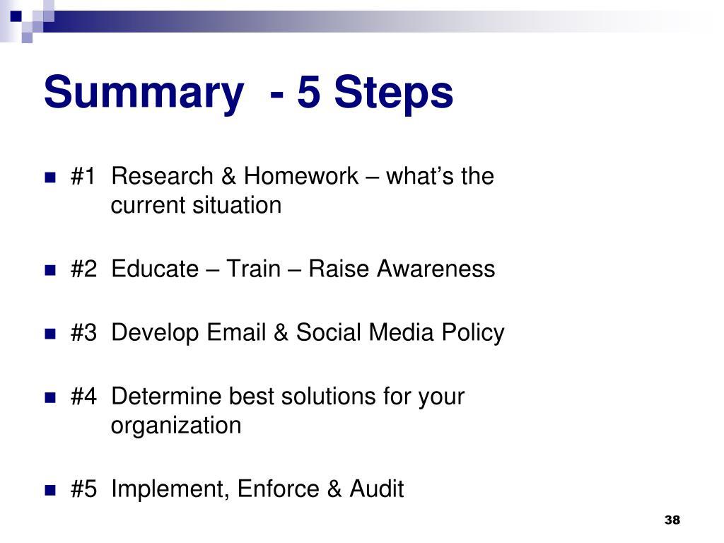 Summary  - 5 Steps