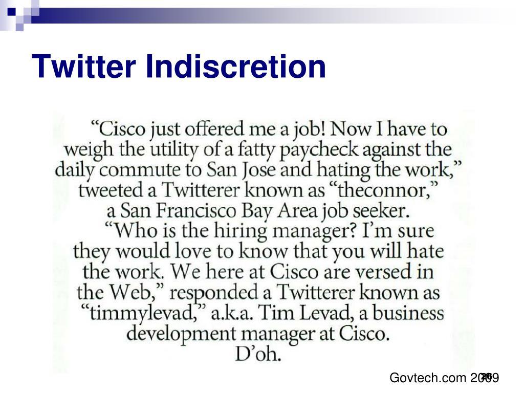 Twitter Indiscretion
