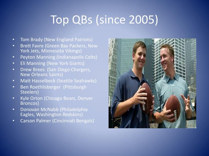 Top QBs (since 2005)