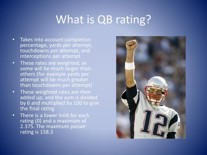 What is QB rating?