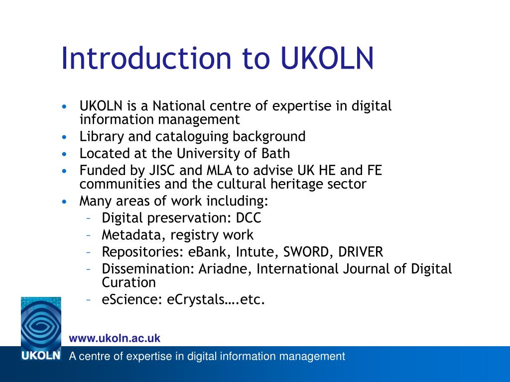 Introduction to UKOLN