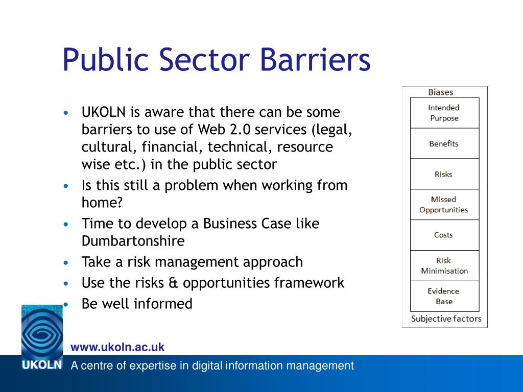 Public Sector Barriers