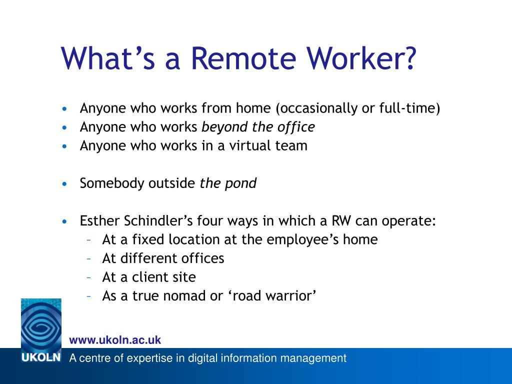 What's a Remote Worker?