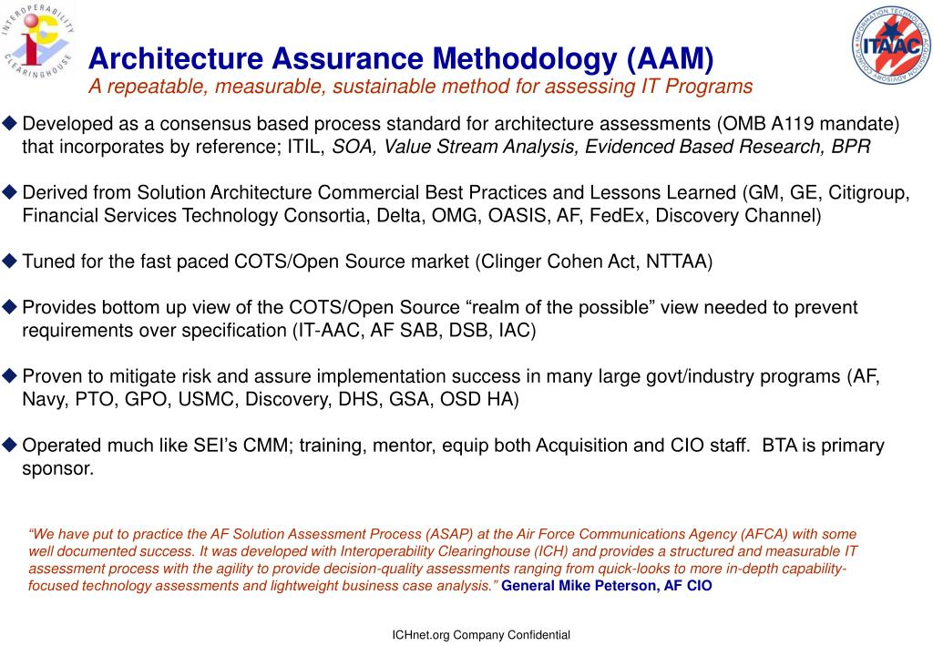 Architecture Assurance Methodology (AAM)