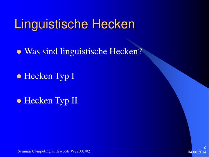 Linguistische Hecken