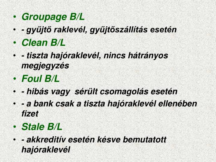 Groupage B/L