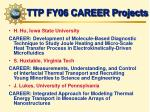 ttp fy06 career projects