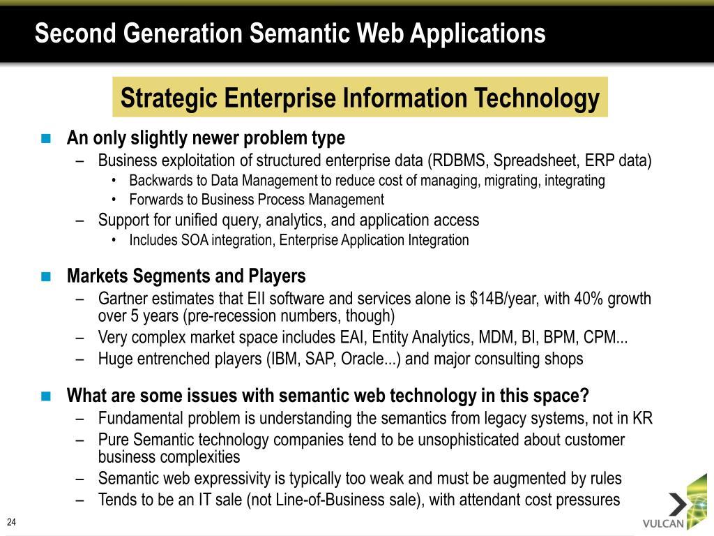 Second Generation Semantic Web Applications